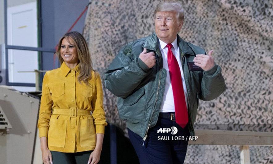 Trump, vizitë surprizë në Irak. Takohet me trupat amerikane