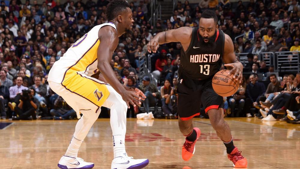 Harden dhuron spektakël, Houston mposht Lakers