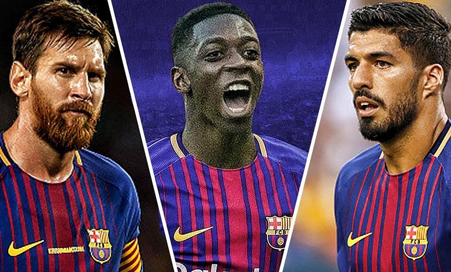 Messi-Suarez-Dembele, 35 gola për Barçën