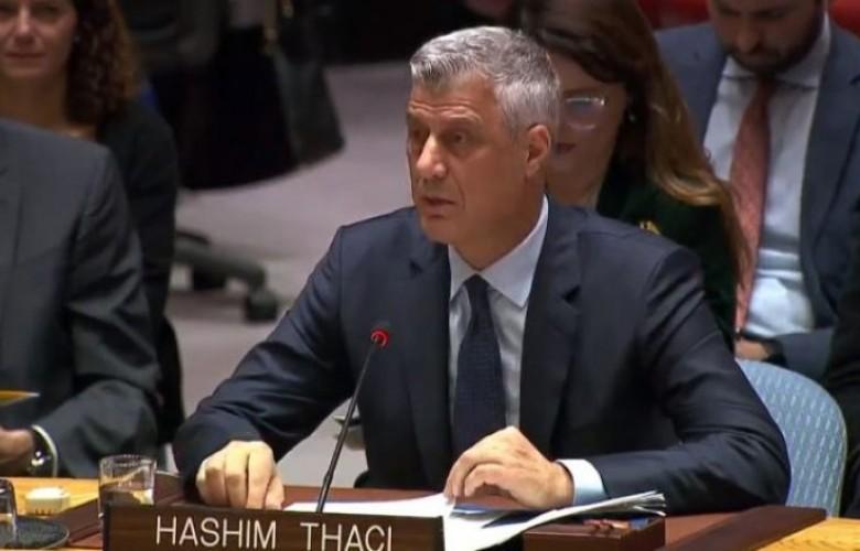 Thaçi në KS të OKB-së: Ushtria e Kosovës, vendim i natyrshëm