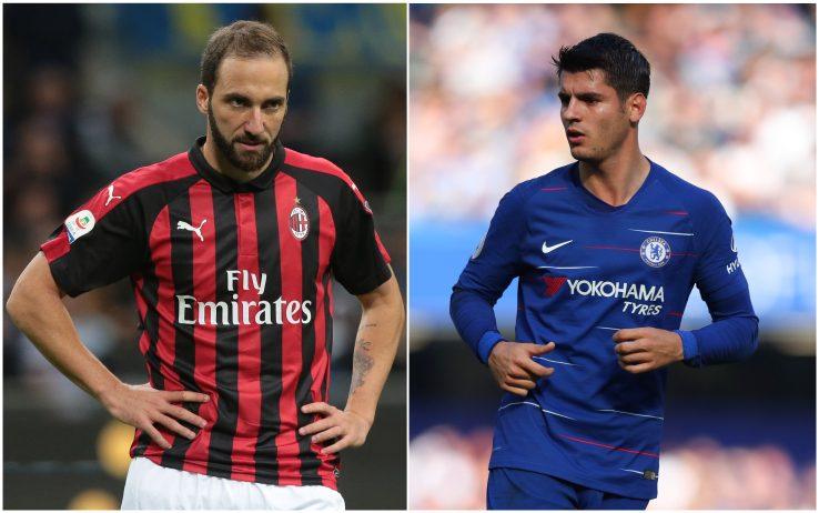 Mediet italiane: Milani dhe Chelsea po finalizojnë detajet e shkëmbimit Morata-Higuain
