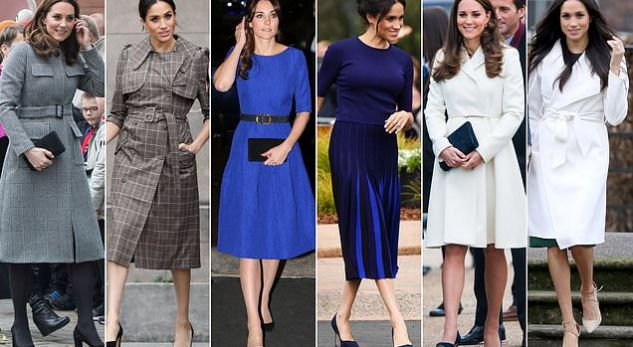 Meghan Markle akuzohet për vjedhjen e veshjeve të Kate Middleton