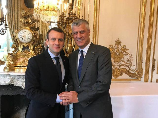 Presidenti i Francës i dërgon letër Presidentit Thaçi