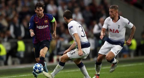 Formacionet e mundshme, Barcelona-Tottenham