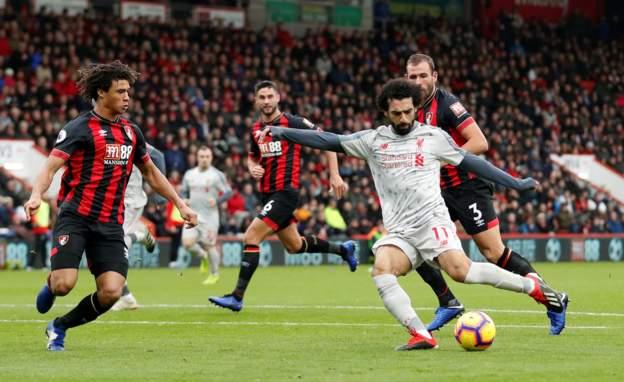 """Liverpool nuk të ndalur, """"rrah"""" keq edhe AFC Bournemouth, Salah het-trik"""