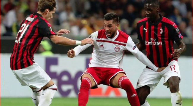 Formacionet zyrtare: Olympiacos – Milan