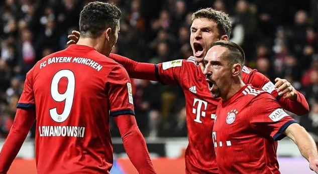 """Bayern Munich i fortë për Eintrachtin, """"kërcënon"""" Dortmundin"""