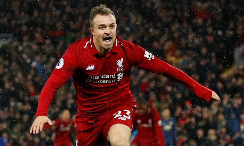 """Shaqiri """"kallë"""" 'Anfield-in', dygolësh për epërsinë e Liverpoolit"""