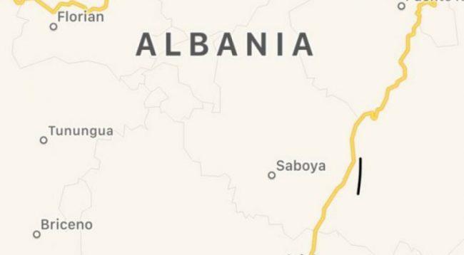 Tri qytete me emrin Albania, në Kolumbi