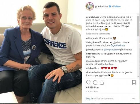 Granit Xhaka urim special për ditëlindjen e gjyshes së tij, ja çfarë thotë