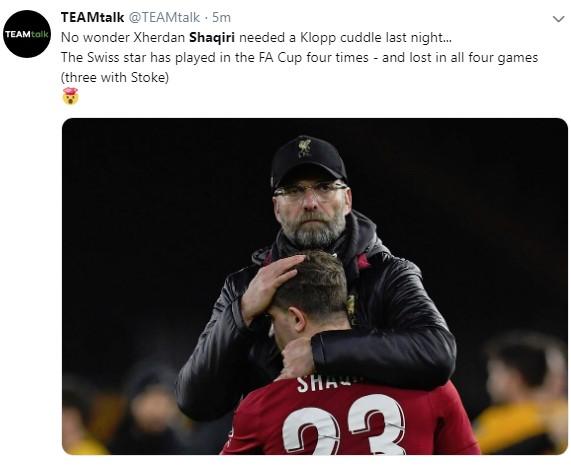 """Vijon """"mallkimi"""" i Shaqirit në FA Cup"""