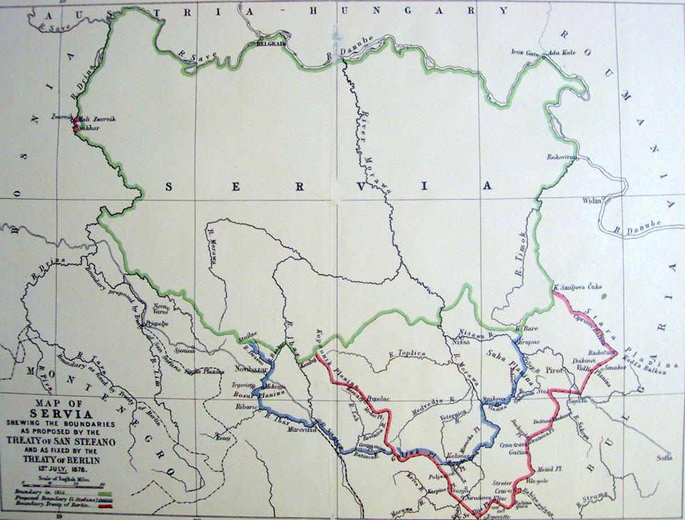 Kufiri i Kosovës me Serbinë sipas Traktatit të Berlinit