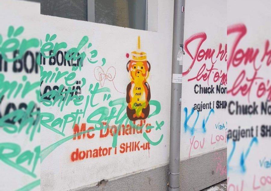 Vetëvendosja: Ende asnjë reagim nga policia e prokuroria për grafitet kërcënuese