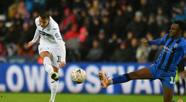 Celina me gol fantastik i ndihmon Swansea Cityt të kalojë në rrethin tjetër të FA Cup