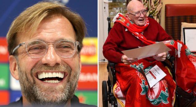 Gjesti i madh i Kloppit me tifozin 104 vjeçar të Liverpoolit