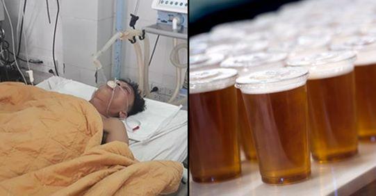 Mjekët i japin 15 birra që t'i shpëtojnë jetën