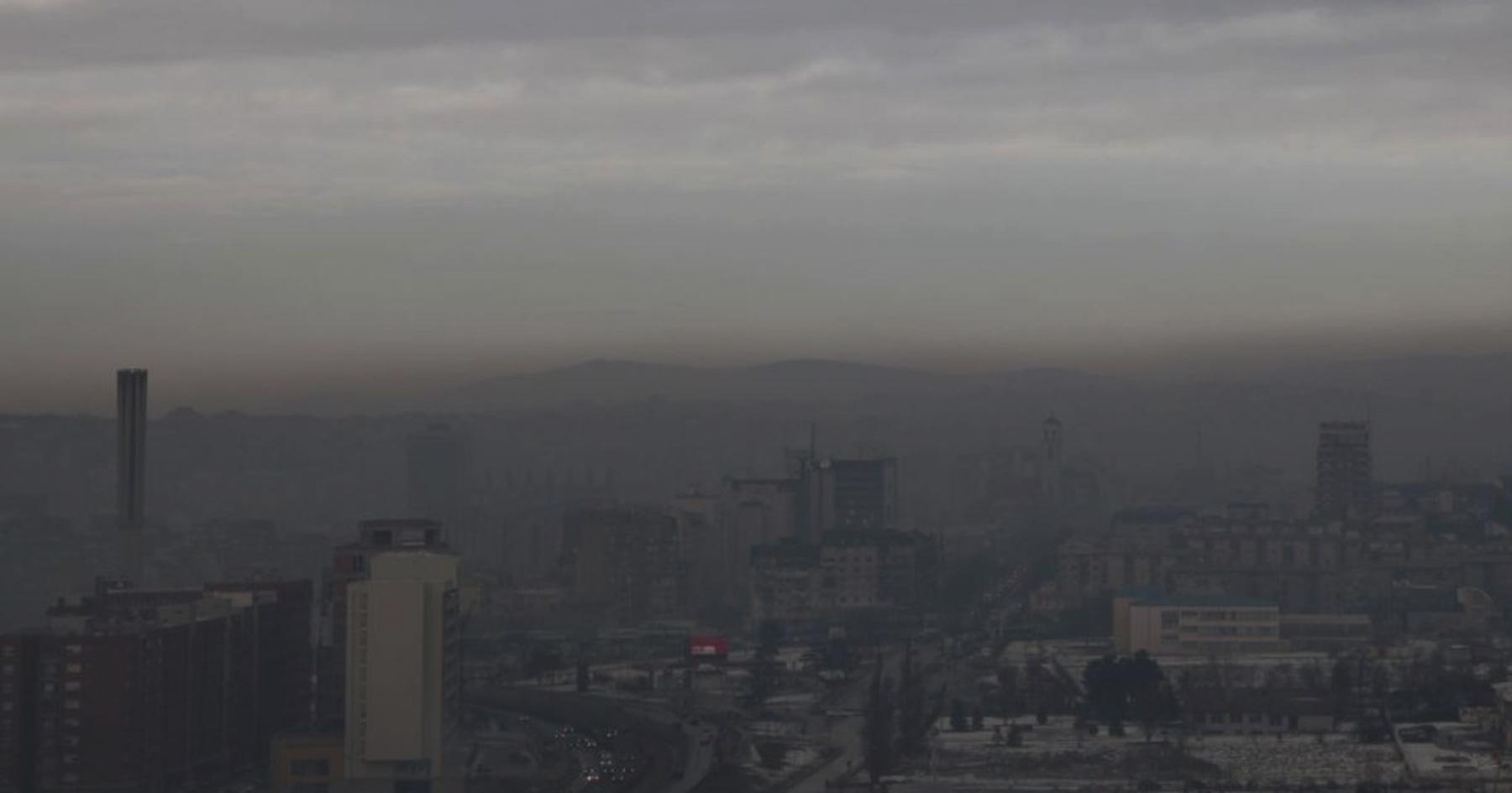 Gjendje e tmerrshme e ajrit në Prishtinë