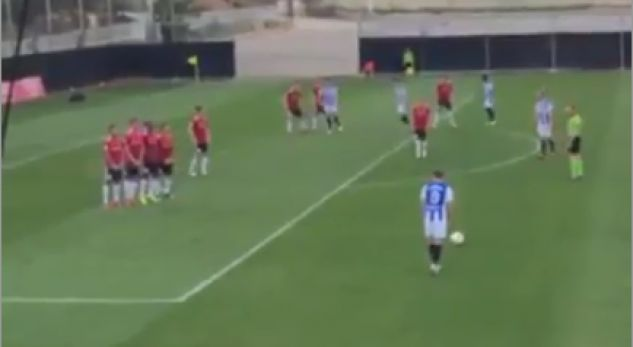 Arbër Zeneli shënon gol fantastik nga gjuajtja e lirë