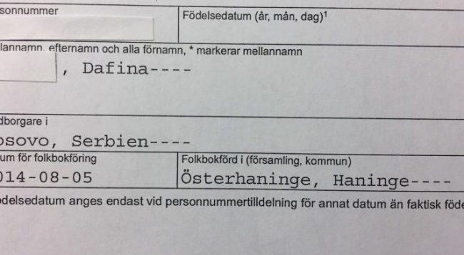 Administrata Tatimore e Suedisë i regjistron kosovarët si shtetas të Serbisë
