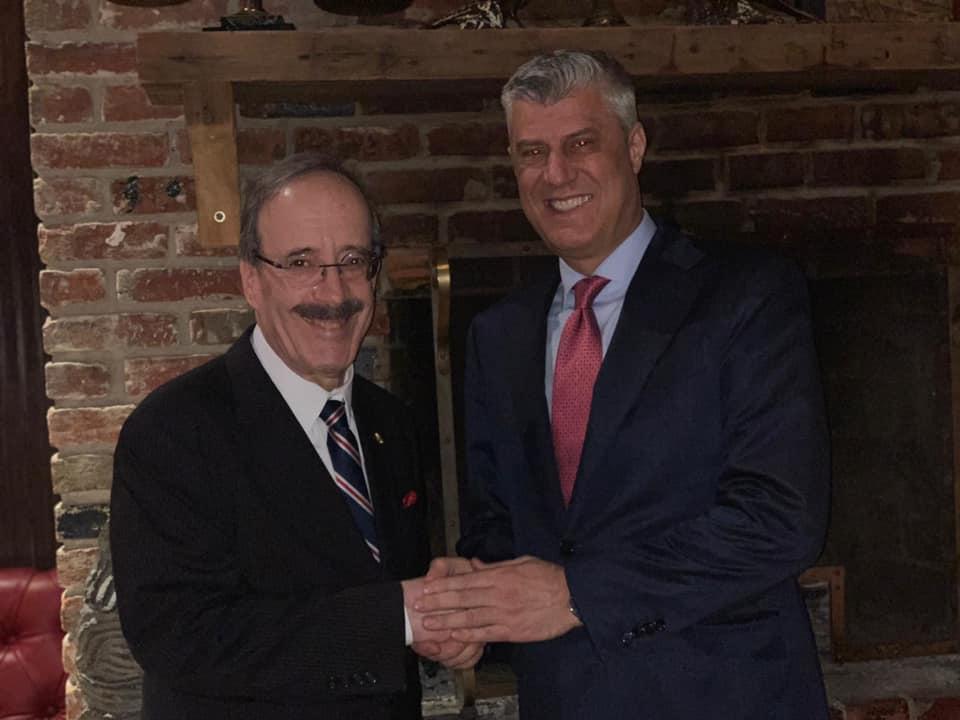 Thaçi tregon se çfarë i tha Eliot Engel për Kosovën