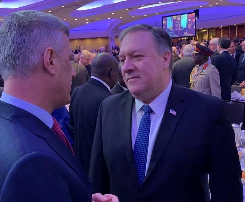 Thaçi takon Pompeon, tregon për përkrahjen e ShBA-së ndaj dialogut Kosovë-Serbi