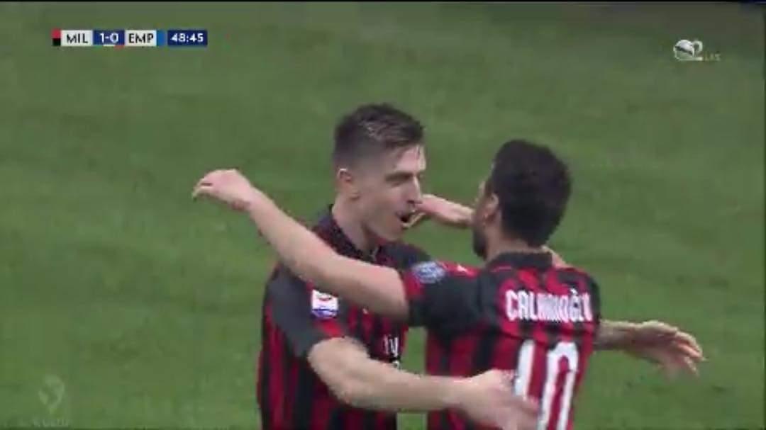 Shënohen dy gola në ndeshjen, Milan – Empoli