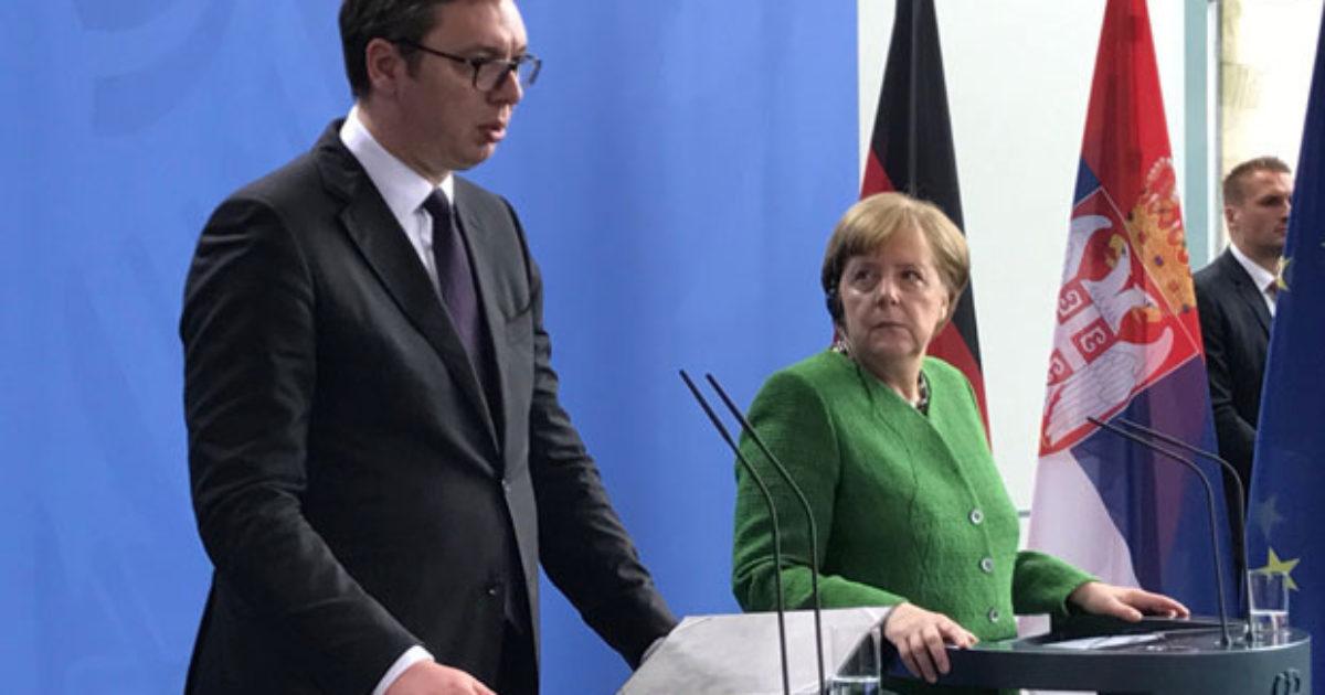Vuçiq thotë se Gjermania nuk dëshiron të ndryshojë kufijtë e Kosovës