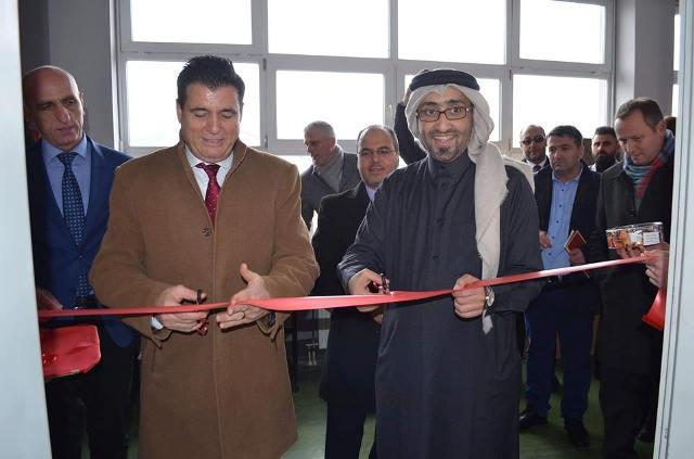 """""""Qatar Charity"""" dhuron kabinet modern të Informatikës për këtë shkollë të Mitrovicës"""