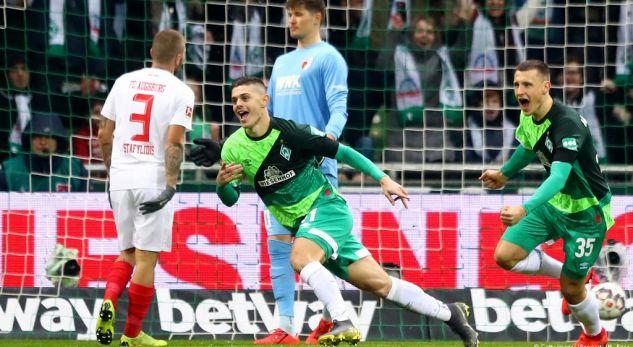 Werderi e mund Augsburgun falë Milot Rashicës