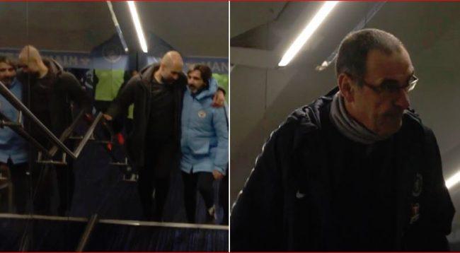 Zbulohet se çfarë ndodhi në tunelin e Man Cityt pasi Sarri e injoroi Guardiolan