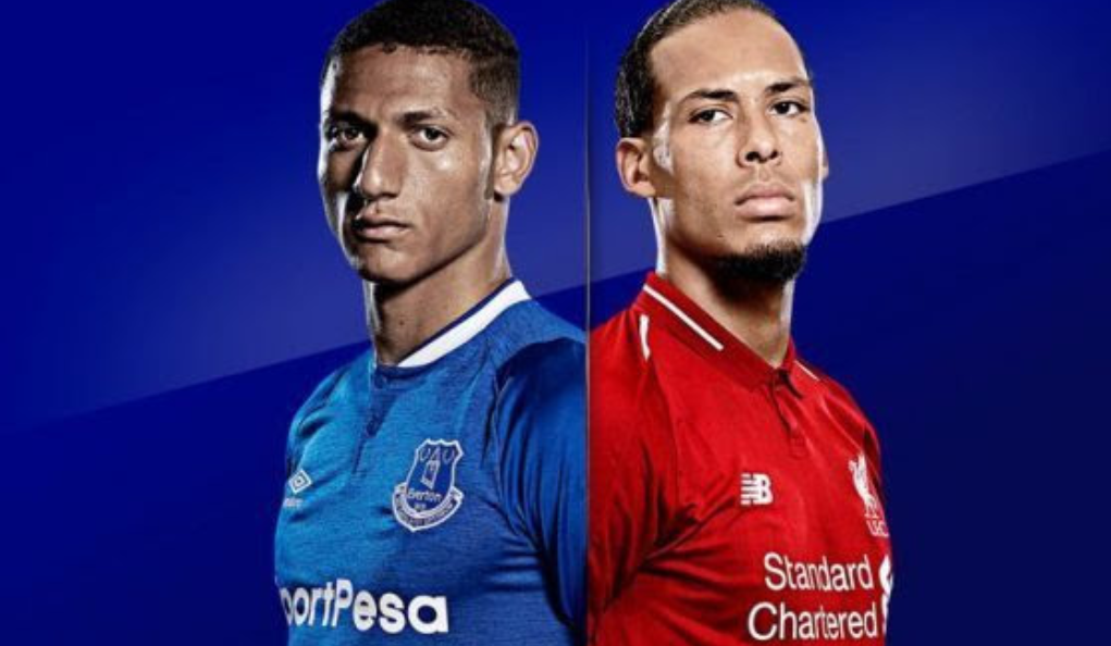 Everton – Liverpool, formacionet zyrtare