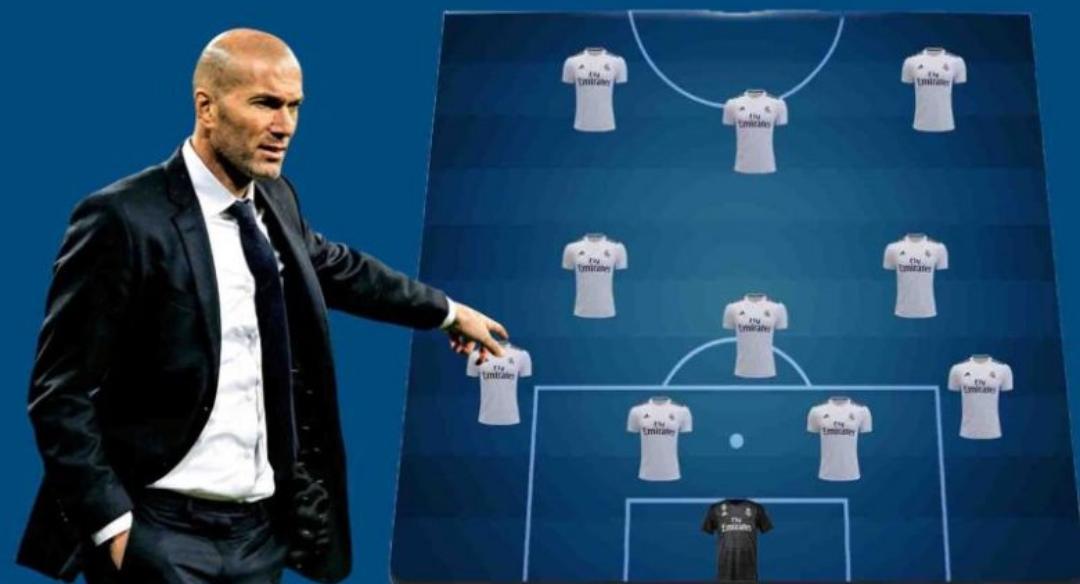 Formacioni i frikshëm i Realit me Zinedine Zidane