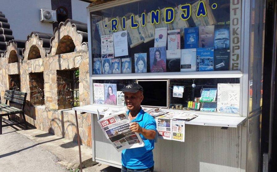 """Kiosku i shtëpisë botuese """"Rilindja"""" në Preshevë shpallet simbol i gazetarisë"""