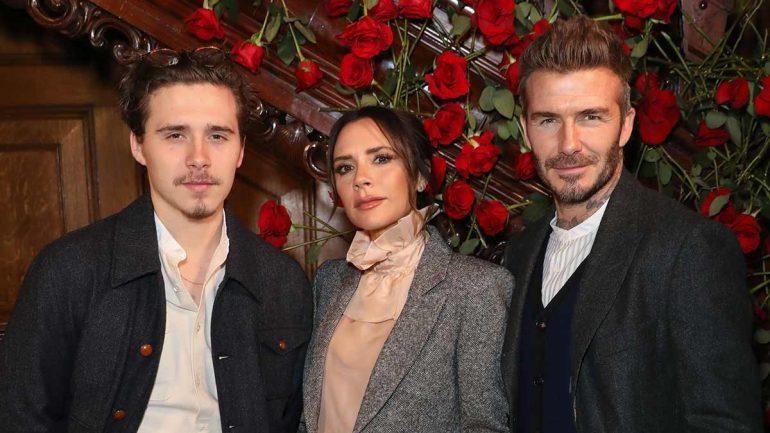 Djali i madh i çiftit Beckham prezanton të dashurën me vëllezërit