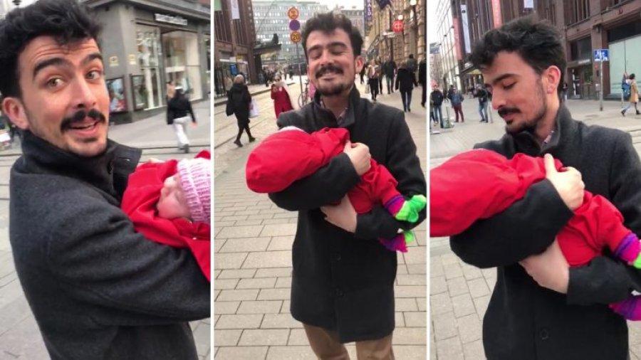Vajzës 6-javëshe në Helsinki i pëlqen të vallëzojë me babain shqiptar