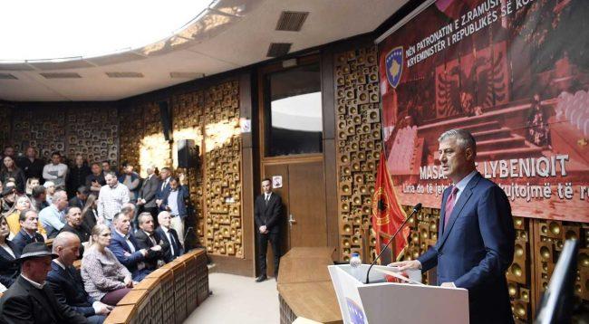 Thaçi: Shteti i Serbisë kreu gjenocid në Lybeniq