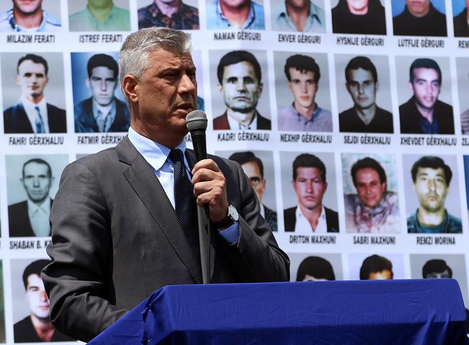 Thaçi: Mosndëshkimi i gjenocidit serb është një selektim në drejtësi