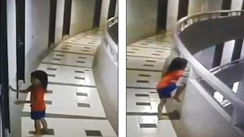 Pesëvjeçarja sumnabul bie nga kati i 11-të (Video)