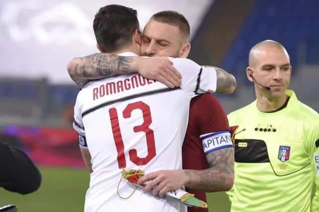 Romagnoli me mesazh emocionues për De Rossin