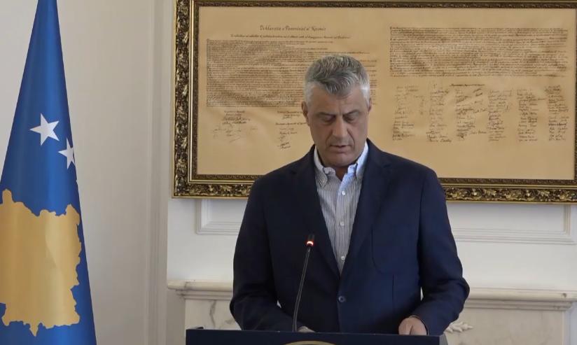"""Thaçi flet për deklaratën e Zaevit, se """"Kosova do t'ia japë Serbisë 10 komuna"""""""