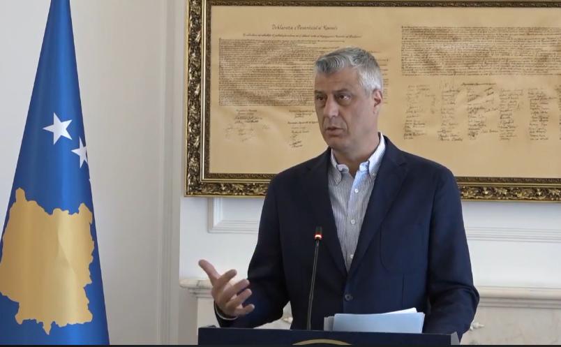 Thaçi: Serbia po e cenon Kosovën, BE po vazhdon të jetë e heshtur