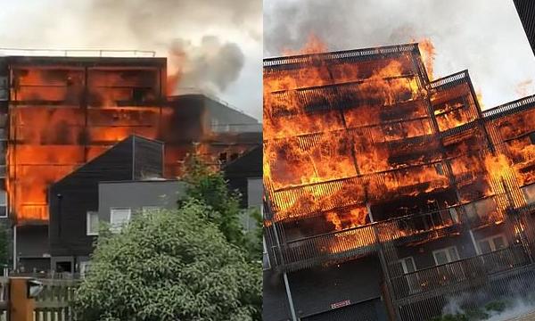 Zjarr masiv në Londër, 100 zjarrfikës nuk po mund ta ndalin