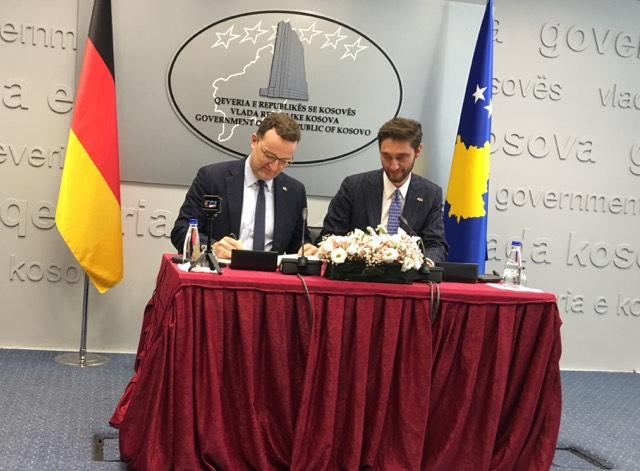 Ministrat Ismaili e Spahn me marrëveshje bashkëpunimi, Gjermania ndihmon në jetësimin e sigurimeve shëndetësore
