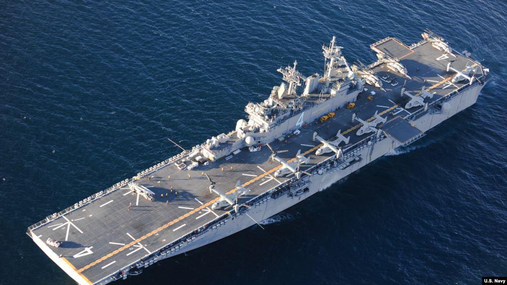 Tension në Hormuz/ Anija amerikane rrëzon dronin iranian