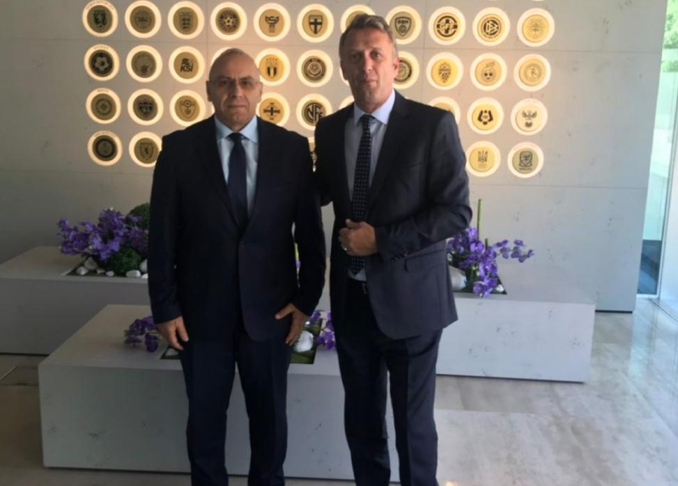 Presidenti Ademi dhe sekretari i përgjithshëm Salihu marrin përkrahje nga UEFA për projektet e reja