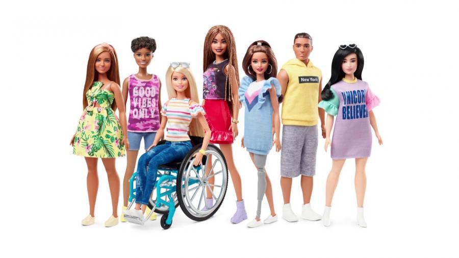 Kukulla e reja 'Barbie' me karrige me rrota