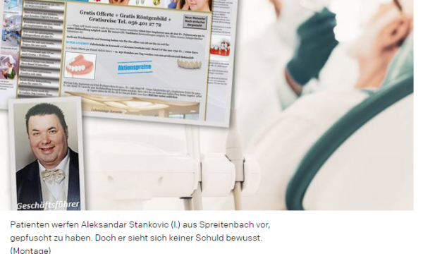 Serbi ndryshoi emrin për mashtrime në Zvicër, shtiret si një dentist me famë