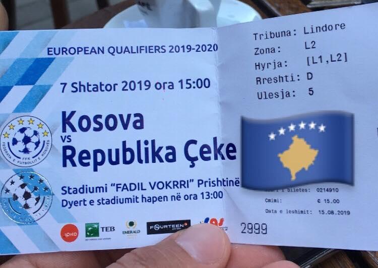 Mediat serbe reagojnë ndaj çmimit të biletave për ndeshjen Kosovë – Republika çeke