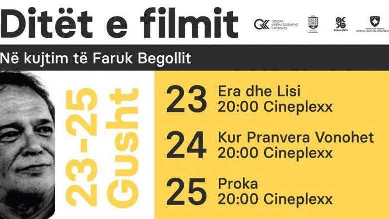 Ditët e filmit në kujtim të Faruk Begollit