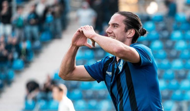 Valmir Sulejmani ia shënon dy gola Duisburgut